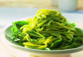 Linguine al pesto di spinacini